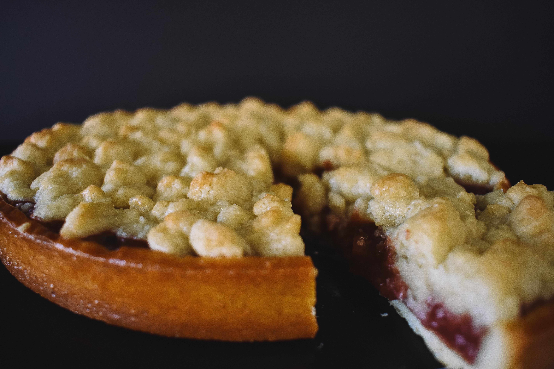 Strawberry Rhubarb streusel Pie