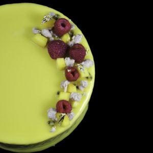 raspberry mango cake, mango cake, raspberry cake, order yellow cake online, scottsdale, gourmet, fancy, scottsdale