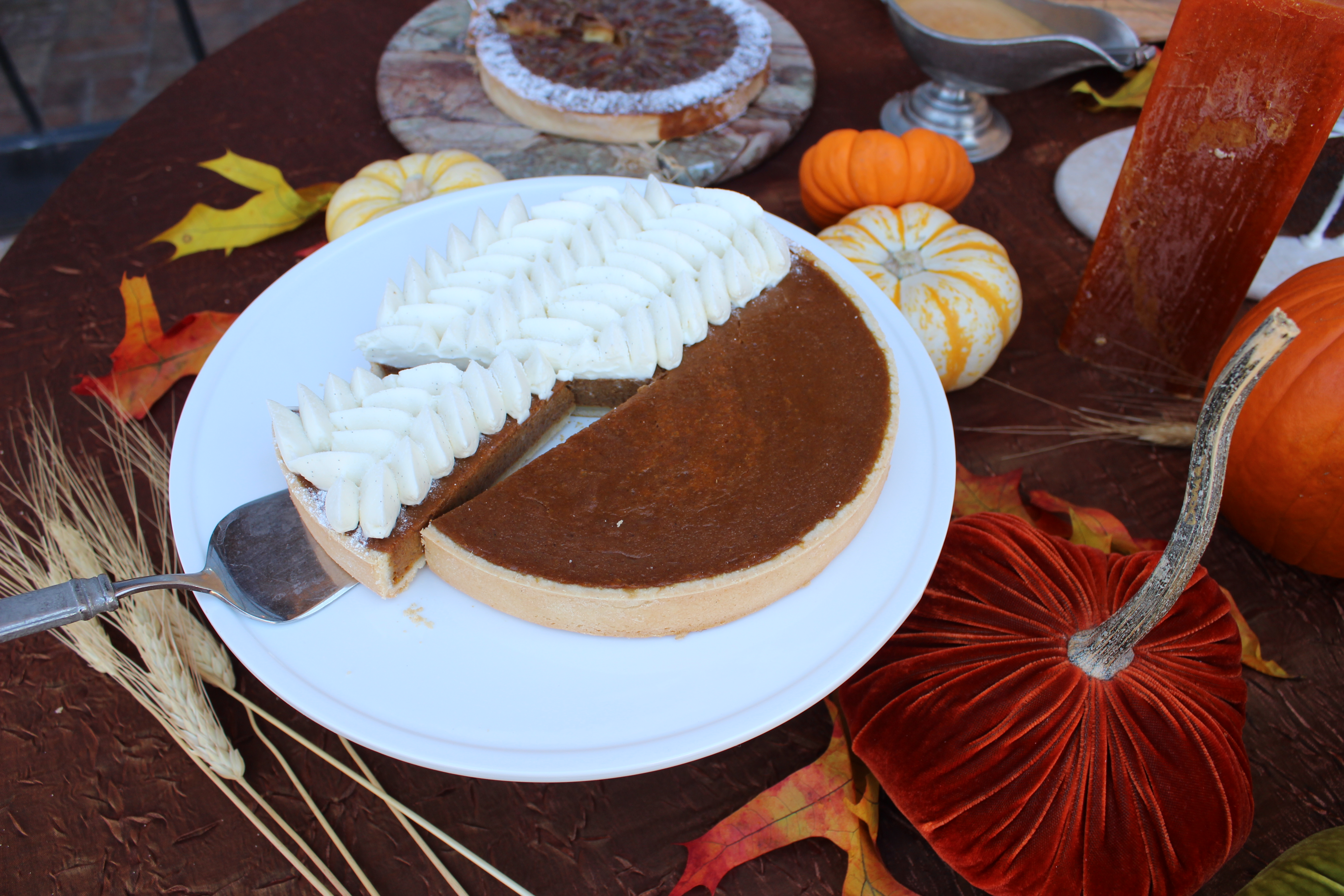 Pumpkin Pie - Vanilla Whipped Cream