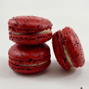 JLPATISSERIE - strawberry verbena macaron - gluten free