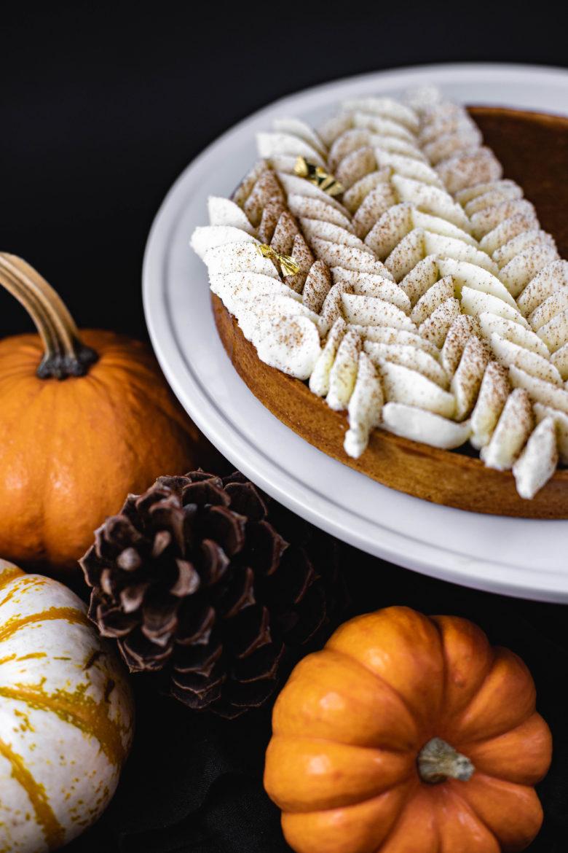JL Patisserie fall collation - thanksgiving pies - pumpkin pie, pecan pies, apple pie available in gluten free