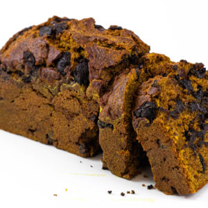 JL Patisserie Pumpkin Bread made with organic pumpkin, belgian chocolate chips. Gluten free options available. Arizona