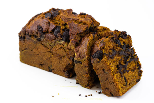 JL Patisserie Pumpkin Bread made with organic pumpkin, belgian chocolate chips. Gluten free options available. Arizona