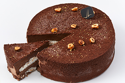 Merveilleux Chocolate Hazelnut Cut
